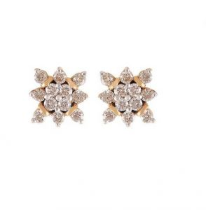 Sheetal Diamonds 0.68tcw Exclusive Real Round Shape Diamond Cluster Earring E0320-14k