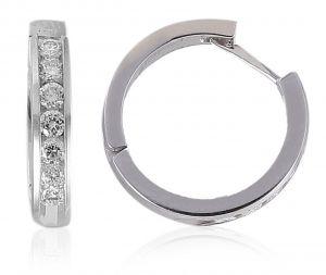 Sheetal Diamonds 0.50TCW Natural Round Shape Diamond Stunning Hoop Bali White Gold Earring E0345-14K
