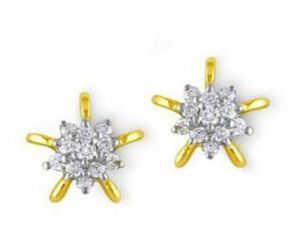 0.45 Cts Certified Real Natural Diamond Earrings
