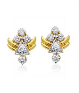 0.20 Cts Certified Real Natural Diamond Earrings