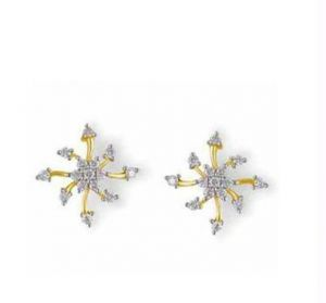 0.60 Cts Certified Real Natural Diamond Earrings