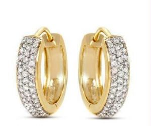 1.40 Cts Certified Real Natural Diamond Earrings