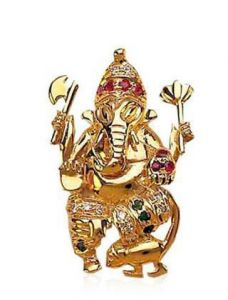 0.20 Cts Awsome Diamond Ganpati Pendant