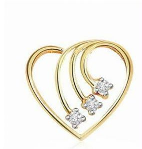 0.06 Cts Certified Heart Shape Diamond Pendant