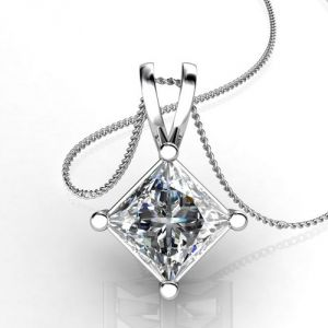 Sheetal Diamonds 0.50tcw Exclusive Real Princess Cut Diamond Pendant Without Chain P0120-18k