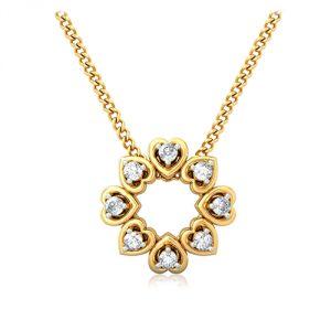Diamond Pendants, Sets - Sheetal Diamonds 0.25TCW Real Natural Round Cut Diamond Pendant P0197-10K