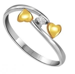 Sheetal Diamond 0.05tcw Brilliant Cut Round Diamond Heart Shape Enagagement Ring R0107-18k