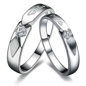 Diamond Rings - Sheetal Diamonds 0.30TCW Gorgeous Real Round Diamond Couple Matching Band R0144-10K