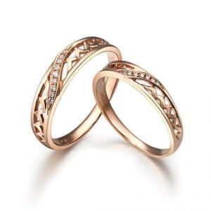 Sheetal Diamonds 0.25tcw Natural Round Shape Awesome Couple Band Ring R0145-10k