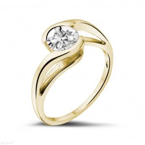 Sheetal Diamonds 0.30TCW Excellent Real Round Solitaire Diamond Beautiful Ring R0157-18K
