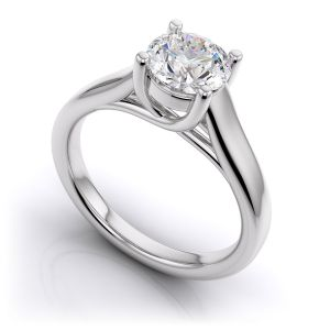 Sheetal Diamonds 0.60tcw Real Natural Round Solitaire Diamond Awesome Ring White Gold For Best Gift R0162-18k