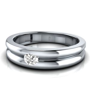Sheetal Diamond 0.10tcw Round Shape Diamond Certified Enagagement Band Ring R0303-14k