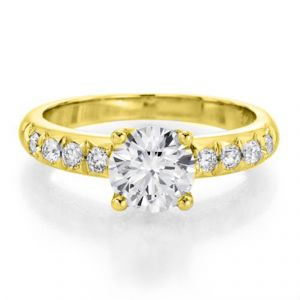 Sheetal Diamonds 0.50TCW Real Round Solitaire Diamond Ring In Yellow Gold R0309-14K