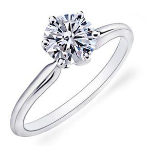 Sheetal Diamonds 0.30TCW  Classic Solitaire Diamond Wedding Ring 10k White Gold