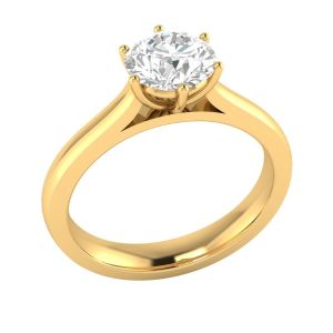 Sheetal Diamonds 0.50TCW Real Round Solitaire Diamond Ring R0322-14K