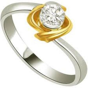 Sheetal Diamonds 0.12tcw Real Round Solitaire Diamond Simple Looking Ring R0353-14k