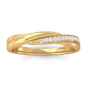 Sheetal Diamonds 0.25tcw Exclusive Real Round Diamond Designer Ring 14k Yellow Gold R0393-14k
