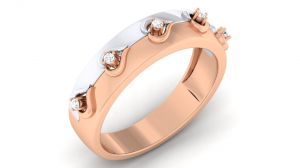 0.20tcw Real Round Diamond Designer Wedding Band 14 Rose Gold Best Festive Gift