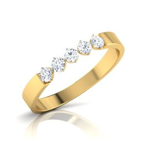 Sheetal Diamonds Real Diamond Certified Engagement Ring In 14k Yellow Gold R0424