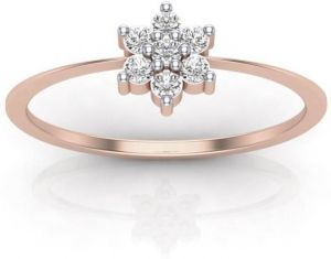 Sheetal Diamond 0.15tcw Round Cut Diamond Nakshatra Best Wedding Ring In Rose Gold R0460-18k