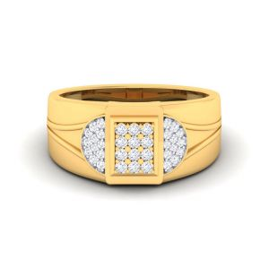 Sheetal Diamonds 0.60tcw Classic Real Round Diamond Beautiful Cluster Ring 10k Yellow Gold R0484-10k