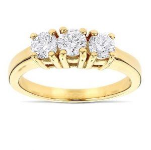 Sheetal Diamonds 0.45TCW Real Round Three Diamond Engagement Ring R0632Y-14K