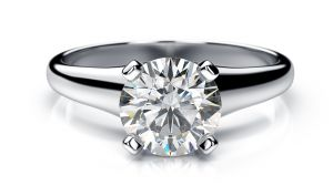 Sheetal Diamonds 0.10Tcw Natural Round Cut Solitaire Diamond Certified Anniversary Ring R0708-18K