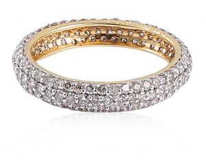Sheetal Diamonds 1.10TCW Real Natural Diamond Designer Band In 18k Yellow Gold R0717-18K
