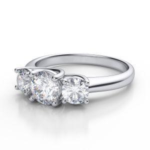 Sheetal Diamonds 0.50Tcw Brilliant Real Round Shape Three Diamond Engagement Ring R0723-14K