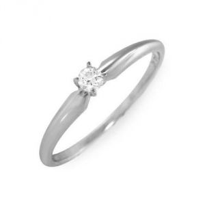 Sheetal Diamonds 0.05TCW Real Round Single Diamond Ring R0770-14K