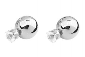 Fashblush Double Sided Shining Jewel Alloy Stud Earring