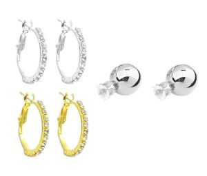 Fashblush Shining Style Combo Cubic Zirconia Alloy Earring Set
