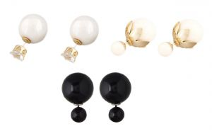 Fashblush Stud Earring Hot Shining Double Sided (set Of 3pairs) (product Code - Fb20218)