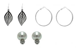 Fashblush Earring Set Sparkling Beauty (set Of 3pairs) (product Code - Fb20227)