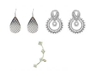 Fashblush Earring Set Sparkling Beauty (set Of 3pairs) (product Code- Fb20228)