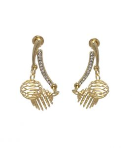 Fashblush Hot Shining Golden Zircon Alloy Dangle Earring(product Code - Fb20233)