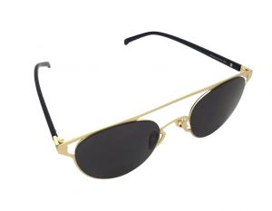 Fashblush Sneak Peek Aviator Golden & Black Sunglasses For Unisex( Product Code - Fb24111)