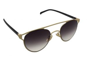 Fashblush Brow Bar Golden Over-sized Oval Sunglasses (unisex)(product Code - Fb24122)