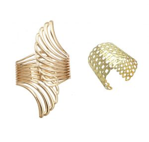 FashBlush Alloy Yellow Gold CuffFashBlush Alloy Yellow Gold Cuff  (Pack Of 2) FB26097