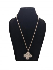 Fashblush Golden Long Rose Gold Chain Floral Pendant Necklace For Girls And Women ( Code Fb28155)