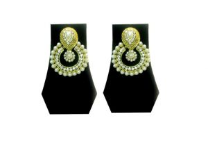 Fashblush Forever Young Gemstone & Pearl Traditional Alloy Dangle Earring
