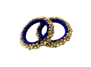 Fashblush Forever Glam Ghungroo Shine Alloy Bangle Set (pack Of 2) - (code - Fb26009)