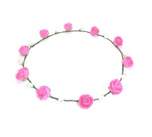 Fashblush Forever Glam Floranfashion Tiara Head Band(pink, Green)
