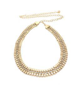 Body jewellery - FashBlush Triple Layer Geometric Bling-O  Gold, Silver Metal Belt(Product Code - FB34018)