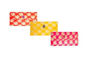 Fashblush Designer Ethnic Festivity Glamour Envelopes(pack Of 3 Red, Blue,
