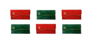 Fashblush Designer Ethnic Festivity Glamour Envelopes(pack Of 6 Red, Green,