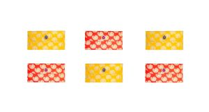 Fashblush Designer Ethnic Festivity Glamour Envelopes(pack Of 6 Red, Yellow