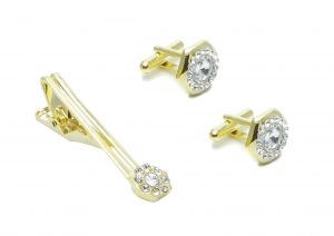 Cufflinks - FashBlush Alloy Cufflink & Tie Pin Set