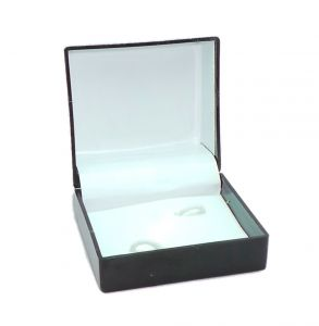 Cufflinks - FashBlush Alloy Geometric Pattern Black and Silver cufflink ( set of 2 pair ) (Product code FB44038)