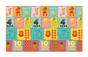 Fashblush Non-woven Free Play Mat Counting Fruits(multicolor, 1 Mat)